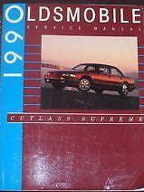 1990 90 OLDSMOBILE CUTLASS SUPREME Service Shop Repair Manual FACTORY OEM
