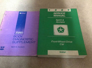 1989 PLYMOUTH ACCLAIM DODGE SPIRIT Service Repair Shop Manual SET DEALERSHIP
