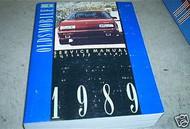 1989 Oldsmobile Cutlass Calais Shop Service Repair Manual OEM Engine Powertrain