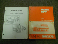1989 Mazda MPV Service Highlights Tune Up Guide Service Shop Manual SET OEM 89