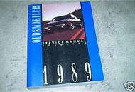 1989 GM Oldsmobile Olds Toronado Factory Service Shop repair Manual OEM