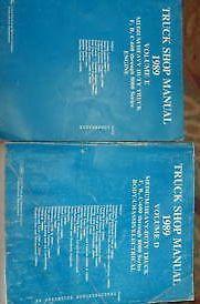 1989 Ford B C F 600 8000 Medium & Heavy Duty Series Shop Service Manual SET 2 VO