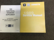 1989 Chevrolet Chevy CORVETTE Service Repair Shop Manual FACTORY SET NEW W EWD X