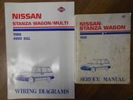 1988 Nissan Stanza Wagon Service Repair Shop Manual Set Factory OEM Book 88