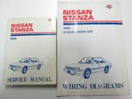 1988 Nissan Stanza Service Repair Shop Manual SET FACTORY DealerShip OEM BOOKS