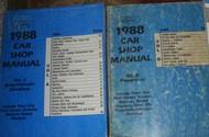 1988 Mercury Grand Marquis Service Shop Manual SET W POWERTRAIN & BODY CHASSIS E