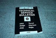 1988 Jeep Chrysler Plymouth Dodge Mopar Technical Service Bulletins Manual OEM