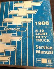 1988 Chevy Chevrolet S10 S-10 S/T TRUCK Service Shop Repair Manual DEALERSHIP