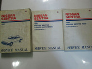 1987 Nissan Sentra Service Repair Shop Manual SET Factory OEM Books USED 87