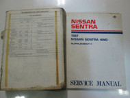 1987 Nissan Sentra Service Repair Shop Manual SET Factory OEM Books DAMAGED 87