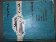 1986 Toyota CRESSIDA Service Shop Repair Manual FACTORY DEALERSHIP BOOK