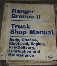 1986 Ford Ranger Bronco II Truck Service Shop Repair Workshop Manual BRAND NEW