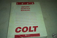 1986 Dodge Colt Service Repair Shop Manual Oem