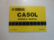 1983 Yamaha CA50L Owners Manual FACTORY OEM BOOK 83 DEALERSHIP