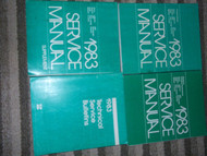1983 PLYMOUTH GRAN FURY Shop Repair Service Manual Set FACTORY MOPAR 4 BOOKS OEM