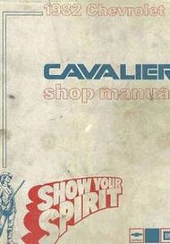 1982 GM Chevy Chevrolet Cavalier Service Shop Repair Workshop Manual OEM Book 82