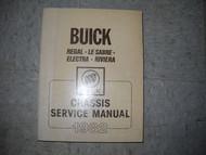 1982 GM Buick Regal Lesabre Electra Riviera Service Shop Workshop Manual OEM