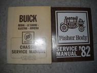 1982 GM Buick Regal Lesabre Electra Riviera Service Shop Manual Set W Fisher Bk