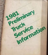 1981 Dodge Plymouth Ram Truck Chrysler Preliminary Service Information Manual BK