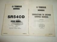1980 Yamaha Snowmobile SR540D Service Repair Manual FACTORY OEM BOOK 80 2 V SET