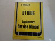 1980 Yamaha DT100G Supplementary Service Manual FACTORY OEM BOOK 80 DEALERSHIP