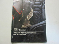 1980 Harley Davidson Fall Motorcycle Fashions and Accessories Catalog Manual