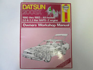 1980 1981 1982 1983 DATSUN 200SX 2.0 2.2 NAPS-Z Service Workshop Manual Haynes