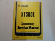 1979 Yamaha XT500E Supplementary Service Manual FACTORY OEM BOOK 79 DEAL 2ND ED