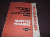 1979 Chevy Monte Carlo Camaro Nova Malibu Service Shop Repair Manual OEM Book 79
