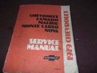 1979 Chevy Monte Carlo Camaro Nova Malibu Service Shop Repair Manual BRAND NEW