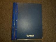 1979 82 85 87 1988 Saab 900 Basic Engine Fuel System Injection Service Manual 88