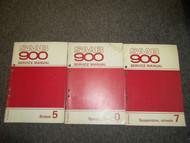 1979 80 1981 Saab 900 Brakes Specs Suspension Wheels Service Manual 3 Volume SET