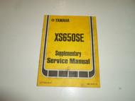 1978 Yamaha XS650SE Supplementary Service Manual FACTORY BOOK 78 WATER DAMAGED