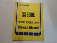 1978 Yamaha XS500E Supplementary Service Manual FACTORY OEM BOOK 78 DAMAGED