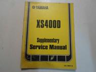1978 Yamaha XS400D Supplementary Service Manual FACTORY OEM BOOK 78 WATER DAMAGE