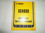 1978 Yamaha XS400D Supplementary Service Manual FACTORY OEM BOOK 78 FADED COVER