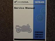 1978 1979 1980 1981 1982 1983 HONDA TWINSTAR CM185T CM200T CM250C Service Manual