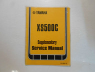 1977 Yamaha XS500C Supplementary Service Manual FACTORY OEM BOOK 77 DAMAGED
