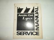1977 Arctic Cat Lynx Service Repair Manual FACTORY OEM WATER DAMAGED BOOK 77
