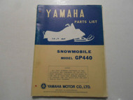 1976 Yamaha Snowmobile Model GP440 Parts List Manual FACTORY OEM BOOK 76 DEAL