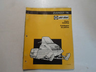 1976 Ski Doo Everest Parts Catalog Manual WATER DAMAGED FACTORY OEM BOOK 76