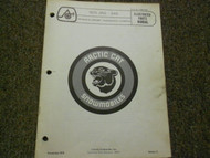 1975 Arctic Cat Jag 340 Illustrated Service Parts Catalog Manual FACTORY OEM
