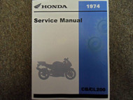 1974 HONDA CB200 CL200 Service Shop Repair Manual FACTORY OEM BRAND NEW