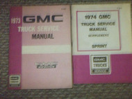 1973 GMC SPRINT TRUCK Service Shop Repair Manual SET FACTORY OEM DEALERSHIP 73