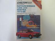 1973 1988 DATSUN NISSAN 1200 210 SENTRA Service Workshop Manual Chilton NEW