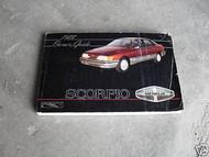 1988 Ford Merkur Scorpio Owners Owner Operators Manual Guide OEM BOOKLET