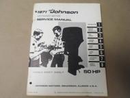 1971 Johnson Outboards Service Shop Repair Manual 50 HP 50ES71 50ESL71 OEM x 71