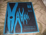 1971 GM Pontiac Ventura II Service Shop Repair Manual Supplement 71 OEM Book