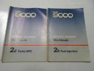 1970s 80s Saab 9000 Fuel Injection Turbo Service Training Workbook Manual SET
