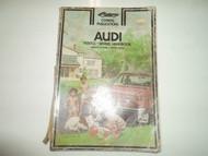 1970 72 74 1976 Clymer Audi 100LS 100 LS Series Service Repair Handbook Manual